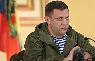 Head of the self-proclaimed Donetsk People's Republic Alexander Zakharchenko