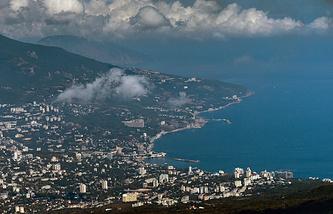 A view of Yalta on the Crimean Black Sea coast