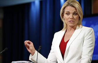 Department of State spokesperson Heather Nauert