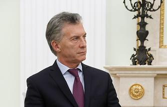 Argentine President Mauricio Macri