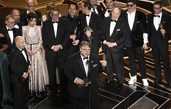 Guillermo del Toro (in the center)