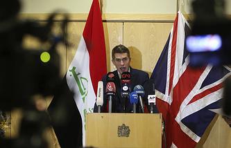 Britain's Defense Secretary Gavin Williamson
