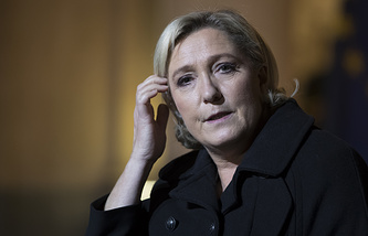 Leader of France's National Front party, Marine Le Pen