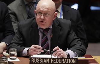 The Russian Ambassador to the UN Vasily Nebenzya
