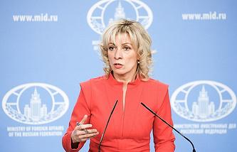 Russian Foreign Ministry's spokesperson Maria Zakharova
