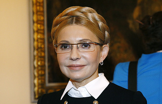 Leader of the Batkivshchina party Yulia Timoshenk