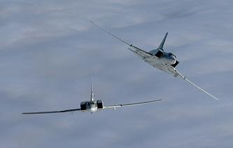 The Tupolev Tu-22M3 strategic bombers