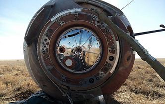 The Soyuz MS-10 space capsule