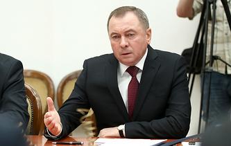 Belarusian Foreign Minister Vladimir Makey