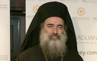 Archbishop Theodosios of Sebastia from the Greek Orthodox Patriarchate of Jerusalem