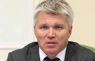 Russia's Sports Minister Pavel Kolobkov