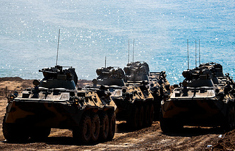 BTR-82A armoured personnel carriers
