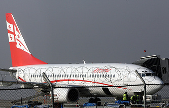 Самолет авиакомпании Georgian Airlines