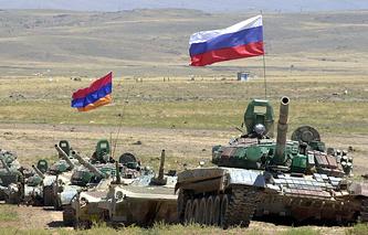 Учения группировки российских и армянских войск в Армении