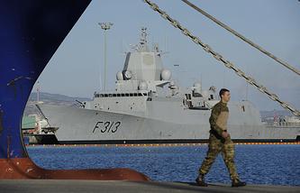 Норвежский фрегат сопровождения груза