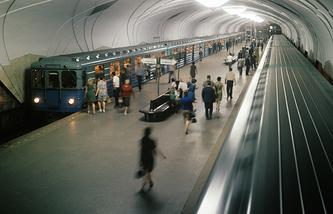 Станция метро «Аэропорт». 1971 год