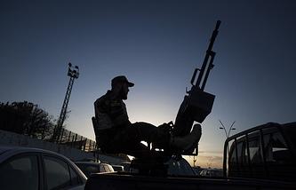 Солдат ливийской армии в Триполи
