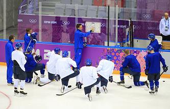 Тренировка сборной Финляндии