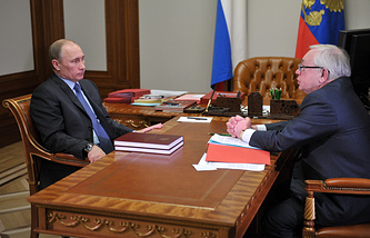 Президент России Владимир Путин и уполномоченный по правам человека Владимир Лукин