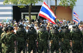 Антиправительственная демонстрация в Таиланде