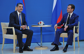 Тигран Саркисян и Дмитрий Медведев