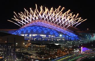 """Церемония закрытия Олимпийских игр на стадионе """"Фишт"""""""