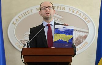 Назначенный Радой премьер-министр Украины Арсений Яценюк