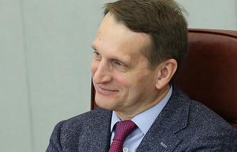 Председатель Госдумы РФ Сергей Нарышкин