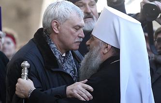 Георгий Полтавченко и митрополит Санкт-Петербургский и Ладожский Варсонофий
