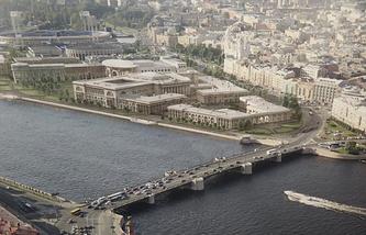Проект комплекса зданий Верховного суда и судебного департамента РФ.