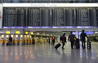 Забастовка служащих авиакомпании Lufthansa в аэропорту Франкфурта-на-Майне