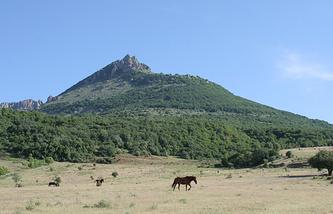 Вид на гору Демерджи, Крым