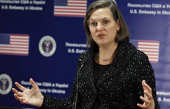 Виктория Нуланд на пресс-конференции в Киеве. Архив