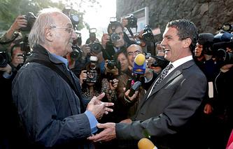 Карлос Саура и Антонио Бандерас