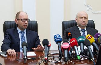 Арсений Яценюк (слева) и Александр Турчинов