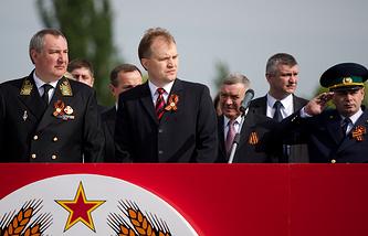 Вице-премьер России Дмитрий Рогозин и президент Приднестровья Евгений Шевчук