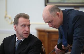 Игорь Шувалов и Антон Силуанов