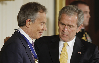 Тони Блэр и Джордж Буш-младший