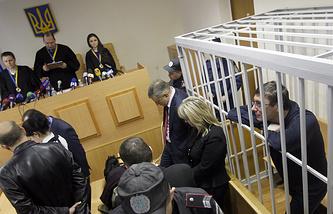 Февраль 2012 года. Оглашение приговора экс-главе МВД Украины Юрию Луценко