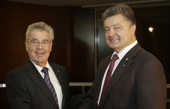 Хайнц Фишер и Петр Порошенко