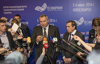 "Дмитрий Рогозин на форуме технологического развития ""Технопром - 2014"""