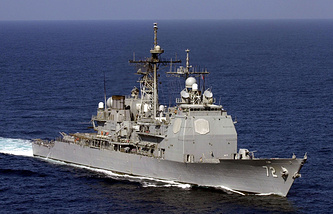 Ракетный крейсер США Vella Gulf