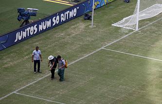 Поле стадиона в Манаусе