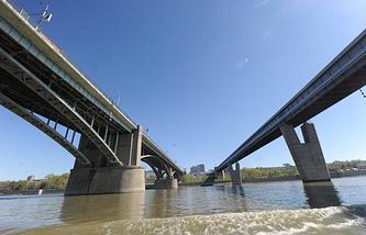 Река Обь в районе Новосибирска