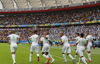 Радость игроков сборной команды Алжира