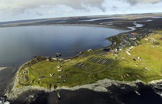 Вид на Алеутские острова