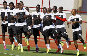Тренировка сборной Ганы