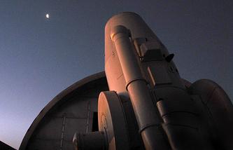 Телескоп Главной (Пулковской) астрономической обсерватории  АЗТ-16 приступает к наблюдениям