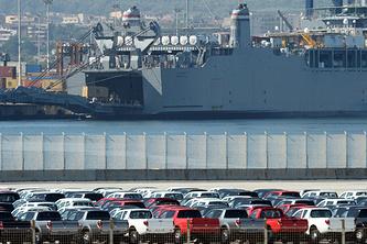 """Американское судно """"Кейп Рэй"""" в порту Джоя-Тауро"""