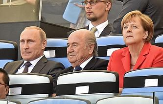 Владимир Путин на церемонии закрытия ЧМ-2014